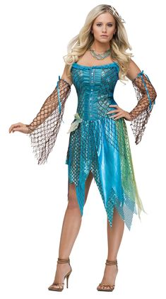 Nixe Damenkostüm Fee blau-grün , günstige Faschings Kostüme bei Karneval Megastore Mermaid costume fairy blue-green, cheap carnival costumes at Carnival Megastore, the largest carnival and carnival costume and party article online shop in Europe! Nymph Costume, Siren Costume, Sea Witch Costume, Costume Dress, Dance Costume, Sexy Halloween Costumes, Carnival Costumes, Cool Costumes, Costumes For Women