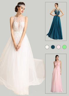 Sleeveless Embroidered Blue Evening Dress Formal Gown
