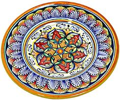 Handpainted Majolica Ceramics-I want to incorporate these somehow...so pretty but soo $$$$....