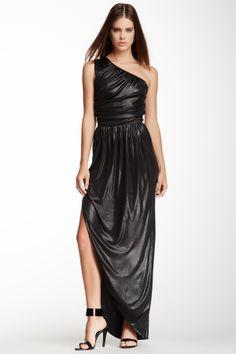 FENDI One Shoulder Draped Dress