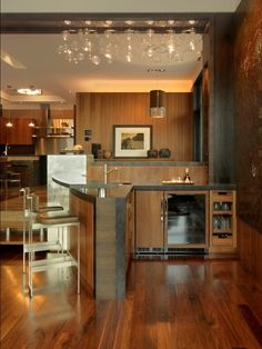 Beautiful Walnut hardwood floors!