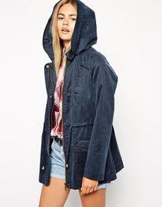 ASOS Waxed Jacket with Pocket Detail