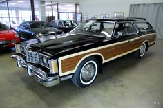 36,000 Original Miles, True Survivor !!!One Collector Owner Through 2009Looks, Runs, and Drives Like Brand NewOptional 400 Cubic Inch V8Original Manuals, Warranty Card, and more!This magnificent 1973 Ford Country Squire Wagon is finished in classic Gloss Black over Black Interior with the signature Wood Paneling. Features rear 3-Way Magic Doorgate, Power Steering, Power Front Disc Brakes, Mud Flaps, Fog Lights, Roof Rack, and rare factory AM/FM Cassette MPX Radio. Included are the original