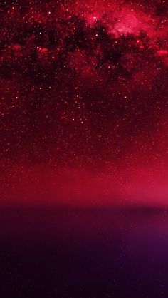Cosmos Red Night Live Lake Starry Space #iPhone #5s #wallpaper