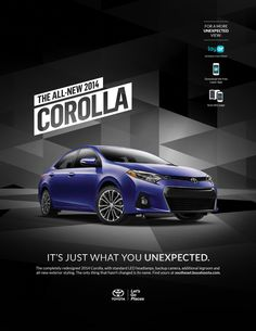 Nice interactive ad for the all-new 2014 #ToyotaCorolla. Scan with the @Layar App!
