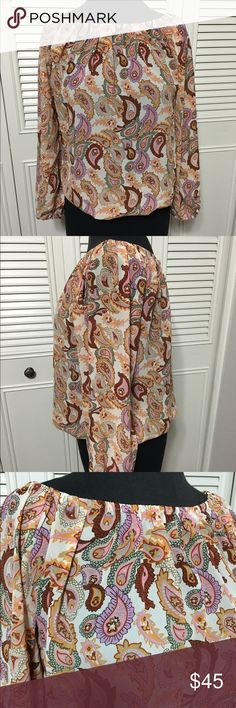 """Walter Baker Top NWT Cute Walter Baker Sheer Vintage Paisley color """"Lucile Top"""". Elastic pleated waist, neck line and cuffs. Walter Baker Tops"""