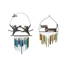 PET WINDCHIMES | Cat and Dog Wind Chimes | UncommonGoods ($36) found on Polyvore