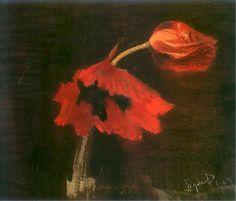 Leon Wyczółkowski, Maki / Poppies, 1904, pastel on cardboard, 45 x 54 cm. Muzeum Narodowe, Kraków