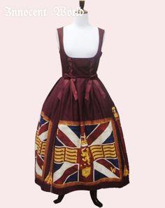 Innocent World Union Flagマキシ丈ジャンパースカート