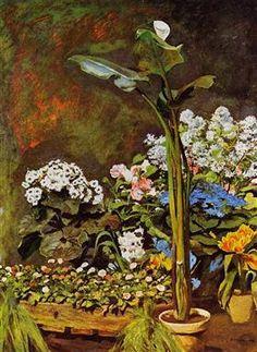 Arum and Conservatory Plants - Pierre-Auguste Renoir