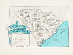 South Carolina map. There's also a Virginia map, so we could have dueling states in the Master Bedroom.