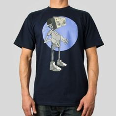 Boombox Face Tee in Navy #samflores #upperplayground @Upper Playground #boomboxface #tshirt  #beats #mask #boombox