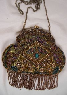 A Multi Beaded Victorian Purse
