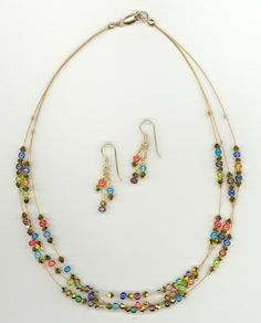 3 stranded gold tigertail necklace
