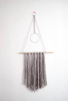 Yarn wall hanging | Boho wall decor | bohemian | nursery decor by Thoseindiemommies on Etsy https://www.etsy.com/listing/500320067/yarn-wall-hanging-boho-wall-decor