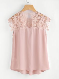 Shop Keyhole Back Daisy Lace Shoulder Shell Top online. SheIn offers Keyhole Back Daisy Lace Shoulder Shell Top & more to fit your fashionable needs.