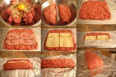 ¡Receta sana para hoy! Si estás aburrido de preparar siempre las mismas recetas con carne picada, hoy vamos a hacer un rollo de carne picada muy especial q