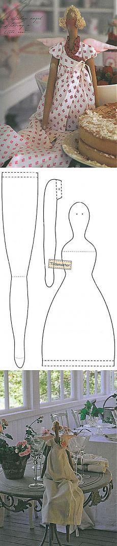 лавандовый ангел выкройка куклы тильда с рисунками   тильда мастер (тильдамастер)