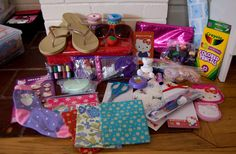 A 'Sew Fun' themed shoebox for a 10-14 year old girl