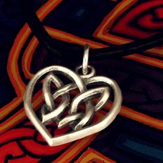 Celtic Sterling Silver Irish Woven Heart Pendant by CelticEternity, $23.00