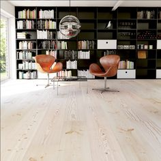 Lyed and whiteoiled Douglas floors from Swedish Rappgo.