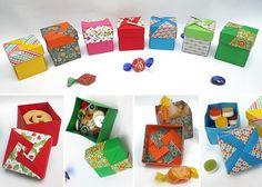 origami - cajas modulares plegadas en papel