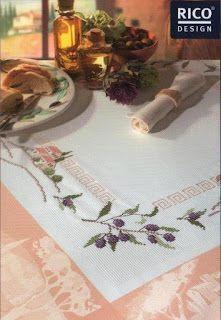 مفرش ايتامين مع الباترون - cross stitch doily pattern ~ شغل ابره NEEDLE CRAFTS