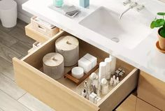 These 7 Bathroom Drawer Organizing Ideas Are the Easiest Way to Clear Out Clutter | Hunker
