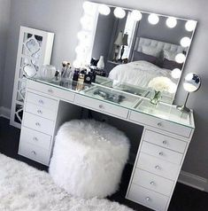 SlayStation® Pro Tabletop + Vanity Mirror + 5 Drawer Units Bundle - Impressions Vanity Co. - SlayStation® Pro Tabletop + Vanity Mirror + 5 Drawer Units Bundle – Impressions Vanity Co. Sala Glam, Vanity Room, Bedroom Vanities, Vanity Chairs, Vanity Mirrors, Dresser Mirror, Closet Vanity, Lighted Vanity Mirror, Light Up Mirror Vanity