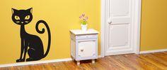 Kočička (1052) / Samolepky na zeď, stěnu a nábytek