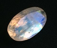 Rainbow Moonstone Moonstone Oval Faceted Cut by gemsforjewels