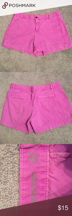 Purple Gap Shorts These are a cute and comfy pair of shorts. They have a 2 or 3 inch inseam so they aren't riding up your butt. They're a bit more purple than in the pictures. Lightly worn and great condition. They're a two but probably fit more like a 4. Gap Shorts