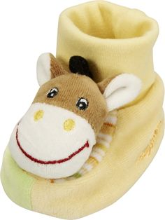 Playshoes Unisex Children's Soft Baby Rattle Booties (0-6 Month, Horse). Fun Animal Design Rattle Shoes. Soft Inside and Soft Linen Sole. Rattle Shoes make sure you hear your baby. Many animal designs to choose from.