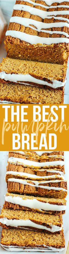 The BEST Almond Flour Pumpkin Bread recipe that is a must to make this fall! Super moist, easy to make and drizzled with a delicious cream cheese glaze! You guys. 'Tis the season for baking! Low Carb Recipes, Bread Recipes, Snack Recipes, Muffin Recipes, Yummy Recipes, Healthy Recipes, Pumpkin Spice Syrup, Pumpkin Bread, Almond Milk Cheese