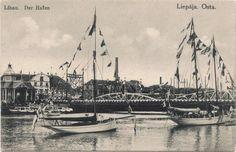 Libau hafen yaht. 1903.