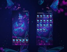 """Check out new work on my @Behance portfolio: """"Butterfly Mobile Theme"""" http://be.net/gallery/67294195/Butterfly-Mobile-Theme"""
