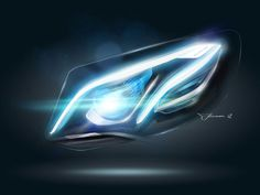 From the image library:    Mercedes-Benz E-Class Headlight Design Sketch