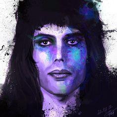 Freddie Mercury. Puedes hacer mucho arte con él.