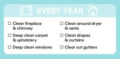 every year cleaning