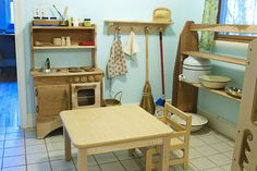Most beautiful wooden play kitchen.
