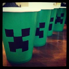 Minecraft Cups - Photo by abbiesanderson