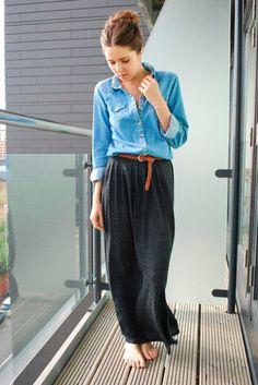 INSPIRACIÓN PARA LLEVAR LA CAMISA DENIM ESTA TEMPORADA | Confesiones de una Casual Girl | #moda #inspiración #looks #outfit #denim #shirt #fashion #style