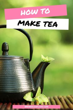 Here's what you need to know to make tea taste better whether you're brewing from tea bags, making tea on the stove, or making tea from tea leaves from scratch in a teapot. Easy steps and instructions to properly make the best iced and hot tea. Hot Tea Recipes, Green Tea Recipes, Green Tea Drinks, Green Teas, Green Tea Ice Cream, Perfect Cup Of Tea, Tea Benefits, Brewing Tea, Best Tea