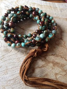A personal favorite from my Etsy shop https://www.etsy.com/listing/273078790/lariat-of-african-turquoise-and