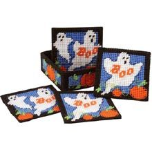 Ghoster Coasters with Holder Plastic Canvas Kit