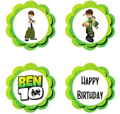 Ben 10 Cupcake Toppers - FREE PDF Download