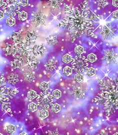 A purple galaxy full of sparkly stardust and purple snowflakes!