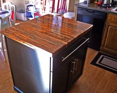 Enchantment Copper Countertop Designed From Color Copper Sheets.