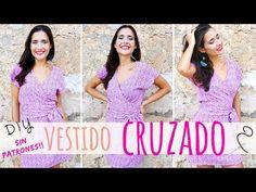 Tutorial VESTIDO CRUZADO muy fácil y sin patrones!!   DIY wrap dress - YouTube Cut Sweatshirts, Prom Dresses, Formal Dresses, Diy Clothing, Refashion, Sewing Patterns, Outfits, Clothes, Google
