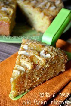 torta di mele integrale, ricetta senza uova Eggless Recipes, My Recipes, Sweet Recipes, Cake Recipes, Dessert Recipes, Desserts, Healthy Cake, Vegan Cake, Tortillas Veganas